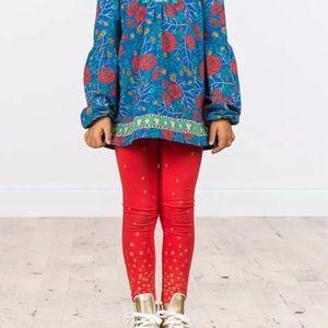 Matilda Jane | Red Leggings With Gold Stars